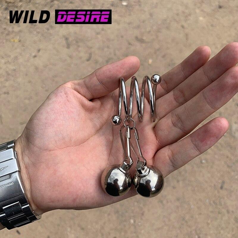 Nuevo anillo de Metal de fisioterapia para pene, anillo para pene, anillo para pene, extensor de bolas, juguete sexual de tiempo, anillo para hombre Gay 18 +