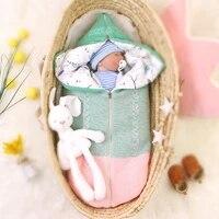 baby autumn and winter sleeping bag newborn thickened warm zipper blanket quilt anti kick multifunctional sleeping bag swaddling