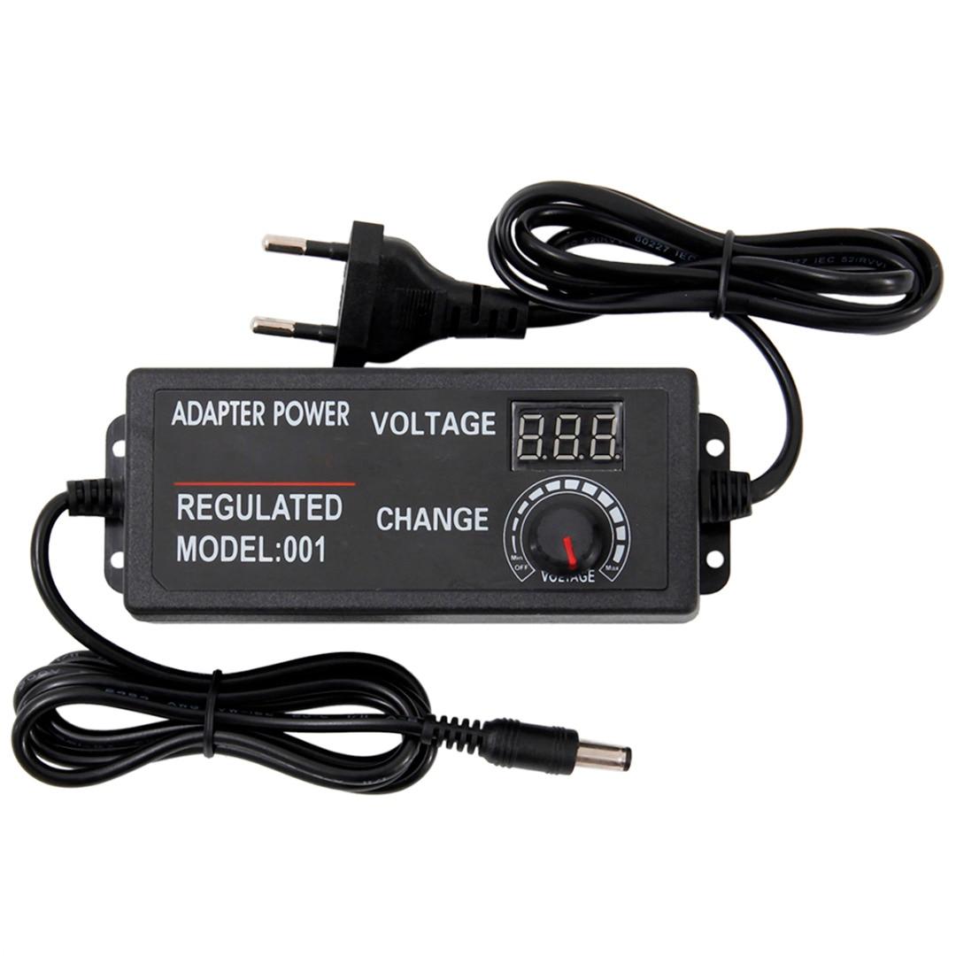 Adaptateur universel dalimentation AC DC régulateur   Adaptateur de tension réglable, prise ue 9-24V 3A 72W / 3-24V 2A 48W / 3-12V 5A 60W