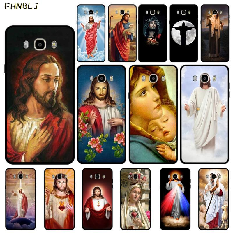 FHNBLJ Jesus Christus Gott segnen sie Luxus Design Telefon Abdeckung für Samsung J6 J7 J2 J5 prime J4 J7 J8 2016 2017 2018 DUO core neo