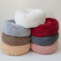 pet dogcat nest fashion warm cotton plush bed cold winter pets keep warm solid soft breathable pet bed