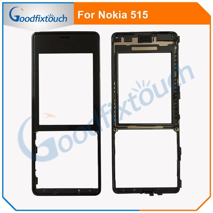 A + + + marco frontal Lcd para Nokia 515 Panel de pantalla táctil parte de reparación de la carcasa frontal cubierta LCD para lumia 515 (no LCD)