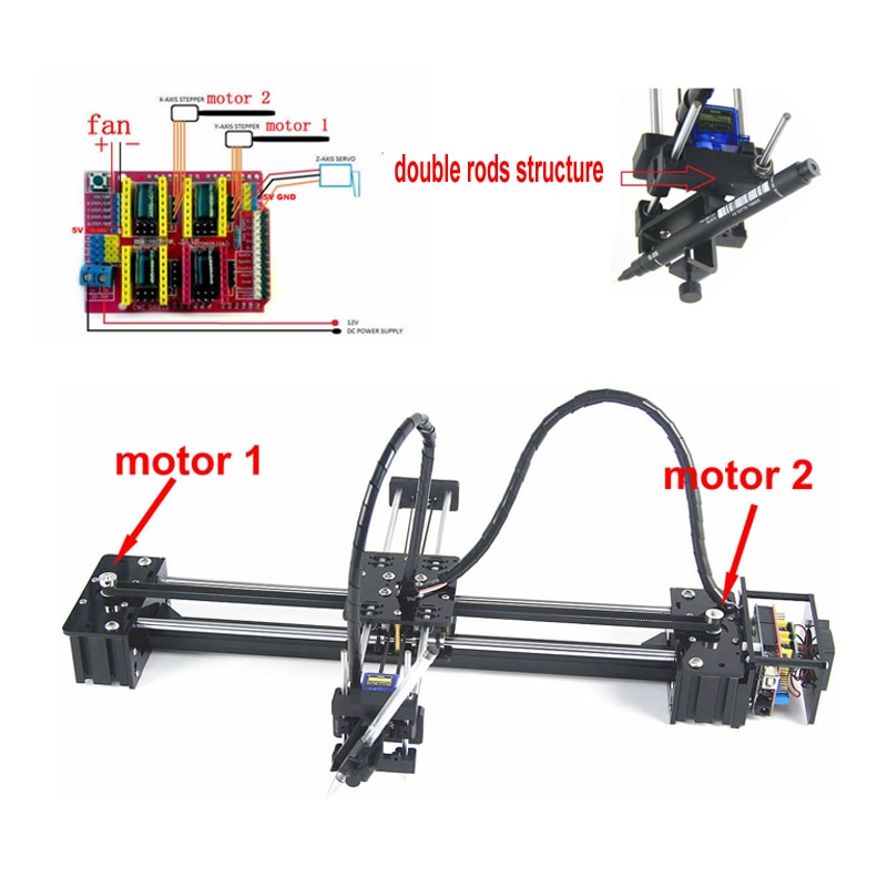 CNC V3 shield toys DIY LY drawbot pen lettering corexy XY-plotter drawing robot machine for writing