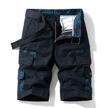Camouflage Summer Shorts Men Wear Trendy Casual Overalls Pants 2021 New Capris Midpants Loose Men's