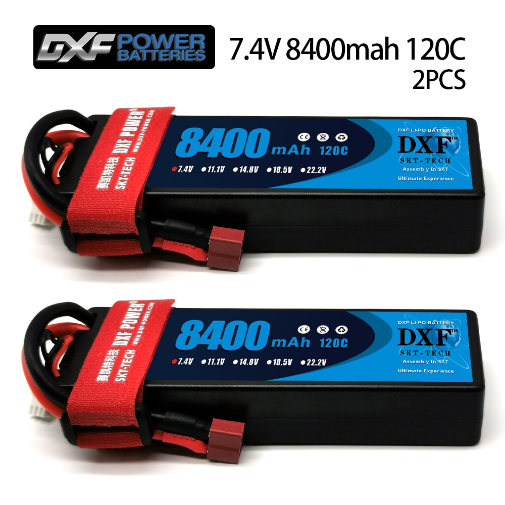 DXF Lipo Battery 2S 3S 4S  7.4V 11.1V 14.8V 5200mAh 8000mAh 8400mAh XT60 TRX for RC 1/8 1/10 radio controlled car Buggy Airplane enlarge