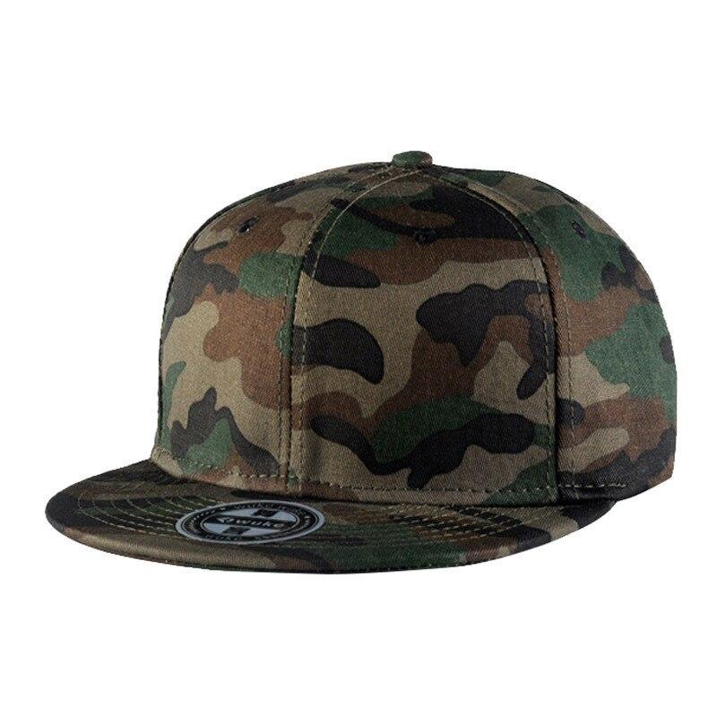 Gorra de béisbol WUKE 2020 de algodón con visera plana, de camuflaje, para hombres y mujeres, gorras Snapback para exteriores, gorras de camuflaje estilo ejército Hip Hop, gorra para hombre