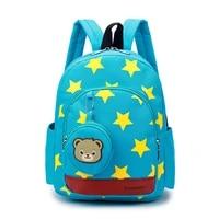 star print kindergarten school bags lightweight nylon backpack baby girls boys school backpack for 1 3 years old mochila infant