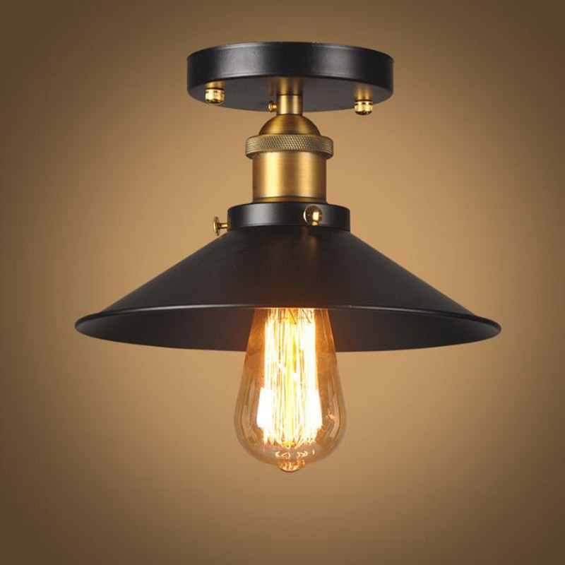 Lámpara De Techo Industrial De estilo Retro para dormitorio, iluminación del hogar E27, accesorio De cabeza