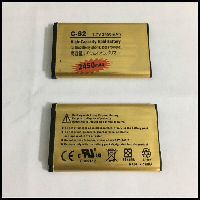 De alta calidad de oro de reemplazo de batería CS2 C-S2 batería para Blackberry Curve 8300, 8310, 8320, 8330, 8520, 8530, 8700 8703e batería