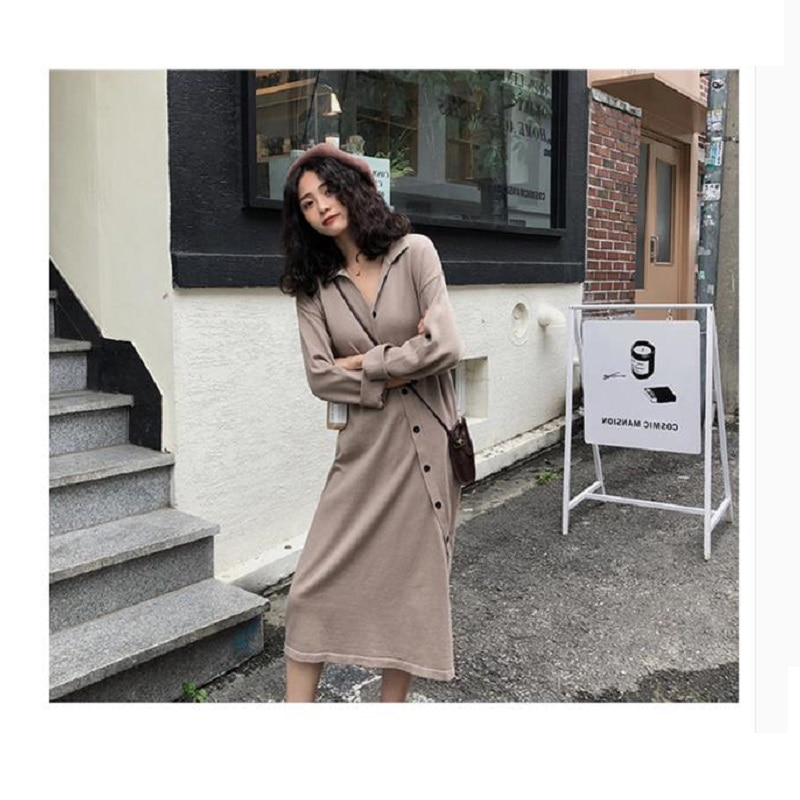 Winter Maternity Shirts Dress Cotton  Long Sleeve Loose Casual Pregnancy Button Sexy Women  Knit Pregnant Mommy Sweater enlarge