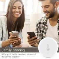 Tuya     capteur intelligent ZigBee  capteur de temperature et dhumidite  fonctionne sur batterie  securise avec lapplication Tuya Smart Life  Alexa Google Home  1 pieces