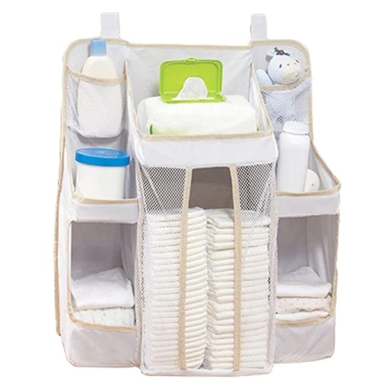 Colgador de pañales para cama de bebé, ropa de cama infantil, bolsa de almacenamiento de enfermería, organizador de cuna GXMB