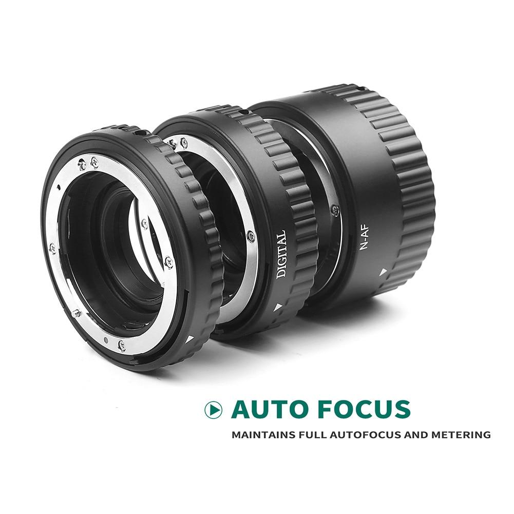 1 Juego de tubo de extensión de cámara de enfoque automático Microspur anillo de fotografía para Nikon GK8899