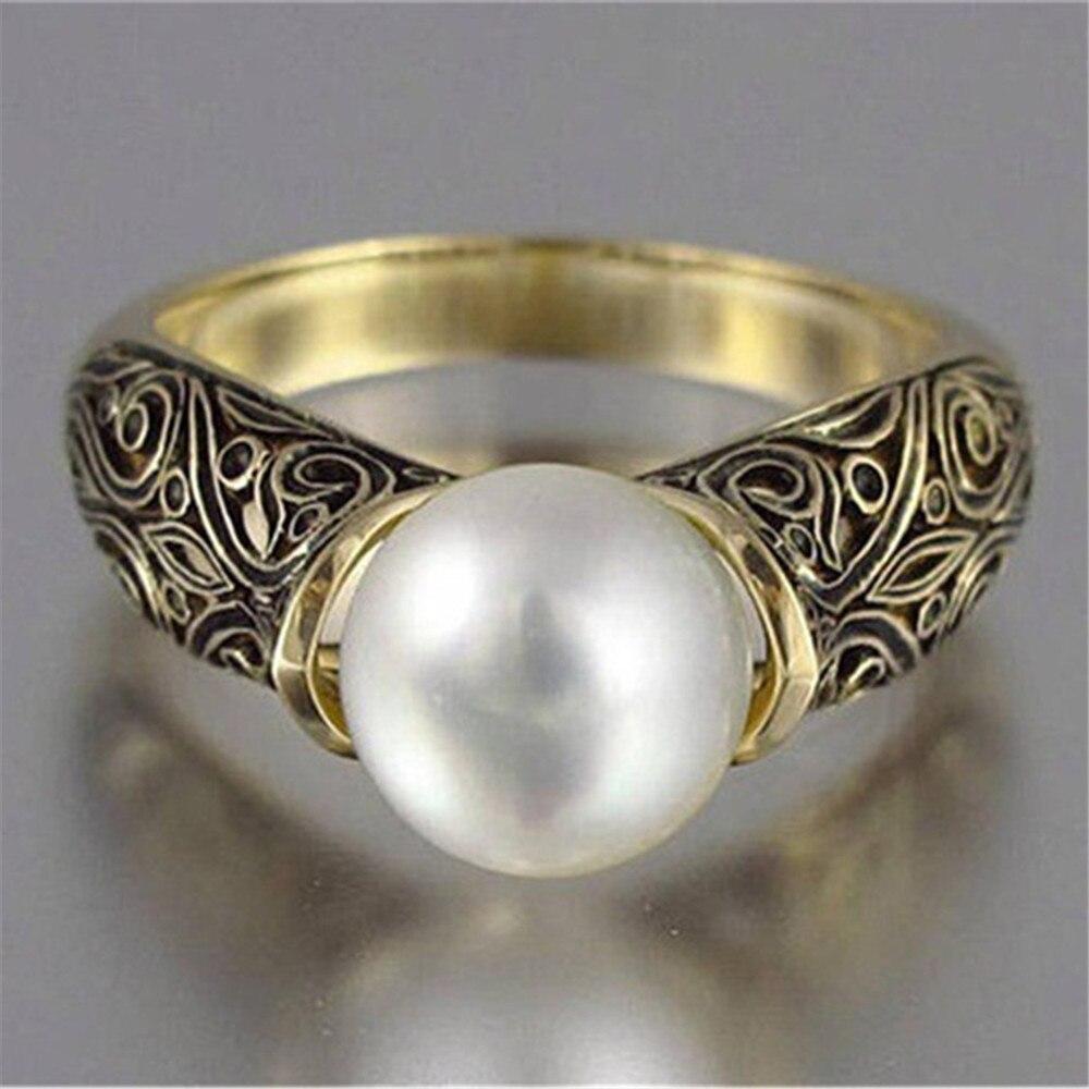 Joyería Vintage para fiesta anillo de señora accesorios populares regalo de San Valentín anillo de compromiso