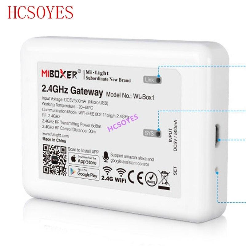 Mi светильник (iBox2 модернизированная версия) WL-Box1 2,4 ГГц WiFi умный светильник/WiFi iBox контроллер DC5V RF пульт дистанционного управления wifi RGB светильник беспроводной