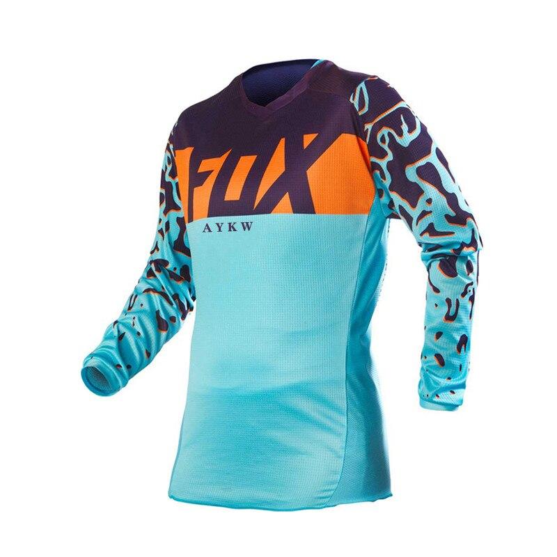 Camiseta de Ciclismo para descenso FOX, para Motocross, manga larga, 2021