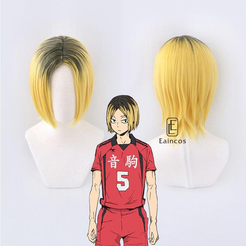Kzume para Cosplay Resistente ao Calor Anime Haikyuu!! Nekoma-peruca Feminina Alta Escola Sintética