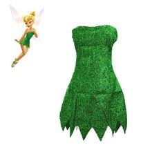 Fée clochette Cosplay robe adulte Halloween conte de fée princesse femmes Sexy Cosplay Mini robe fée clochette Costume