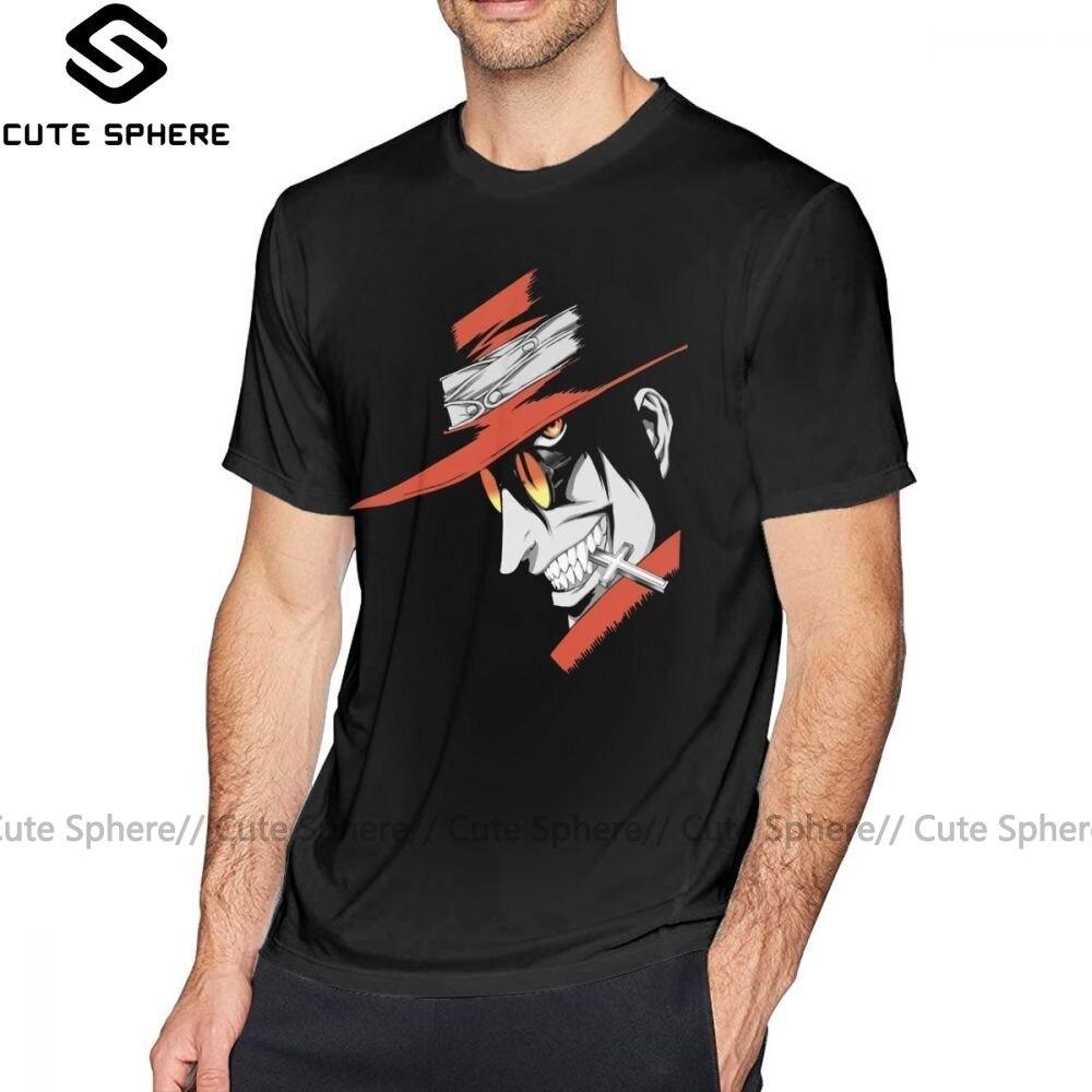 Camiseta Hellsing Alucard Face, Camiseta estampada de moda, camiseta de manga corta grande 100 de algodón, bonita camiseta para hombre