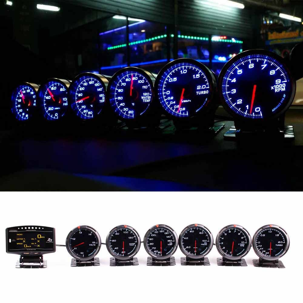 Defi Advance BF Defi Link-نظام zd 6 مقاييس فولت ، درجة حرارة الماء ، ضغط الزيت ، مقياس Turbo Boost Rpm