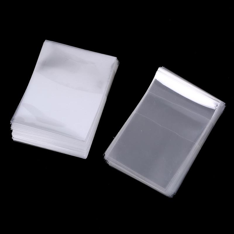 100 Uds. 6,6 Cm 6Cm X 9Cm fundas para cartas mate Protector de tarjetas para tarjetas de comercio Protector de tarjetas mágicas cubierta de tarjeta transparente titular de la tarjeta