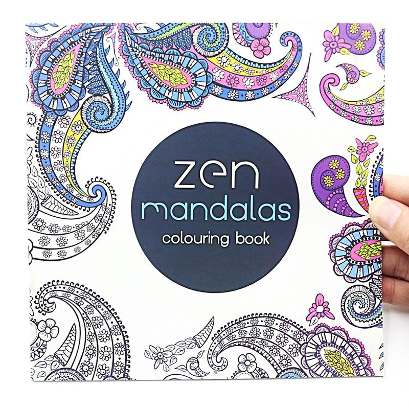 1 Uds nuevo 24 páginas Flor de mandala libro para colorear para los niños adultos aliviar el estrés matar tiempo Graffiti pintura libro de dibujo artístico