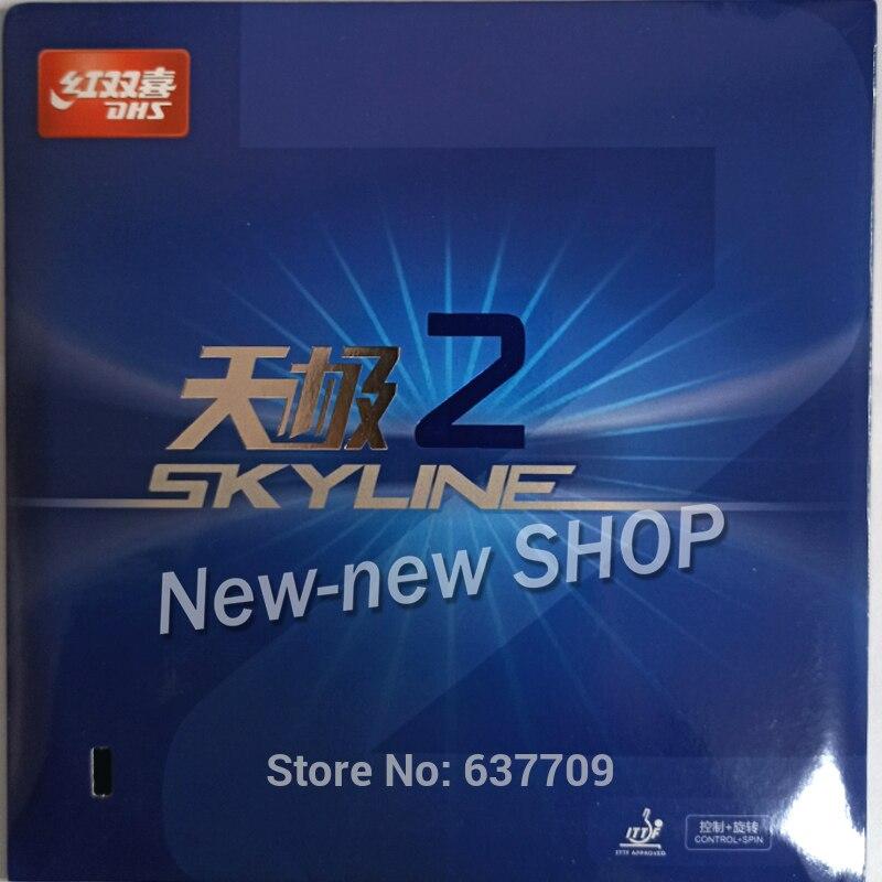 DHS Skyline TG2 TG 2 TG-2 Pips-en tenis de mesa Goma de PingPong con esponja 2,2mm