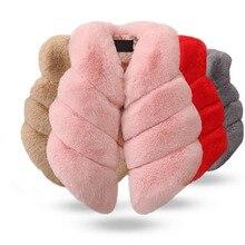 Gilet en fausse fourrure pour enfants filles   Gilet épais et chaud, coloré, mode automne et hiver, vêtements pour noël, pour bébés filles