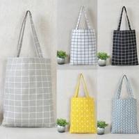 hot women linen eco reusable shopping shoulder bag canvas purse pouch tote totes handbags book bags