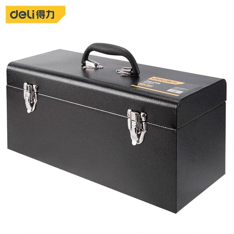 Металлический ящик для инструментов Deli, профессиональный ящик для инструментов, Полетный чехол для хранения, органайзер, полный ящик для ин...