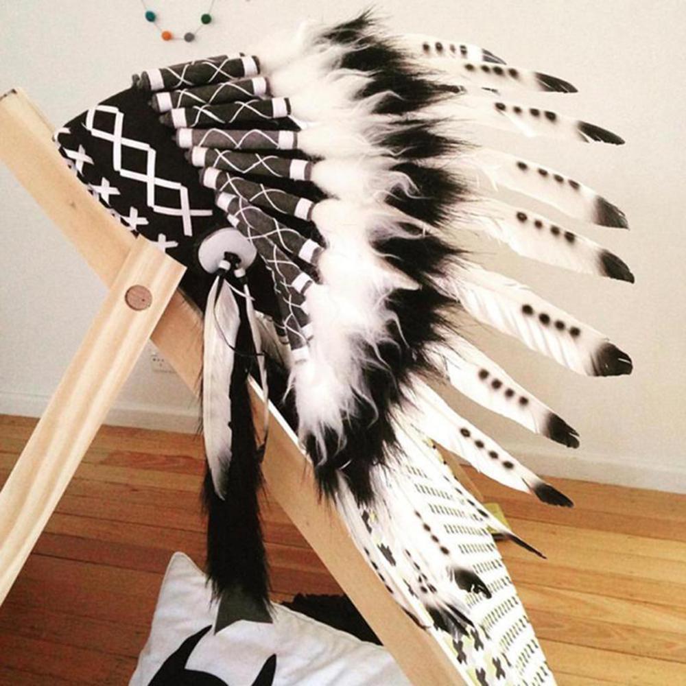 Kinder Party American Native Indian Feder Kopfschmuck Hut Fotografie Prop