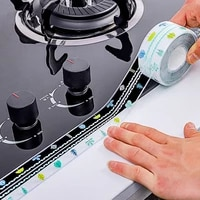 Autocollant etanche pour evier de cuisine  bande transparente Anti-moisissure pour salle de bains