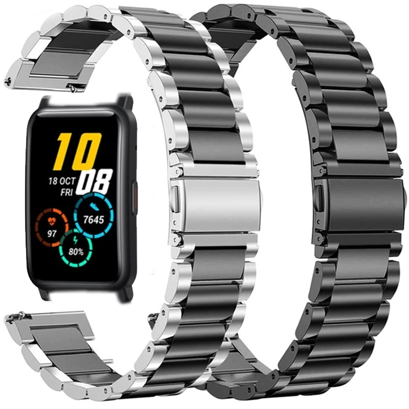 Stainless Steel Strap For Honor Watch ES Smart Watch Band Metal Replaceable Bracelet Straps For Huawei Honor ES Wristband Correa