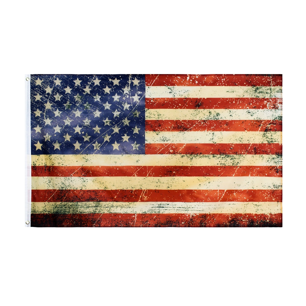 Yehoy 90x150cm estilo vintage chá manchado antigo bandeira americana dos eua antiquado