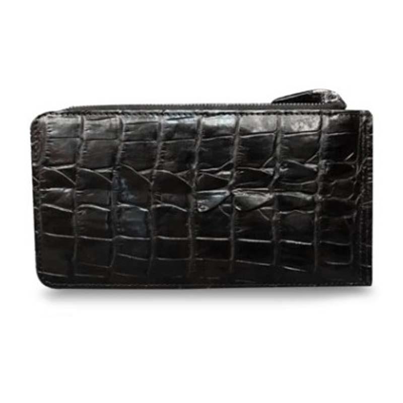 XHPJ crocodile  More screens  Card package   wallet  Men and women  general  Genuine leather  long  multi-function wallet