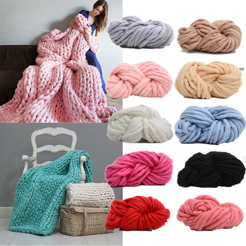 Grueso de lana hilado Super abultado brazo Merino lana manta Super grueso abultado brazo Merino lana manta de punto