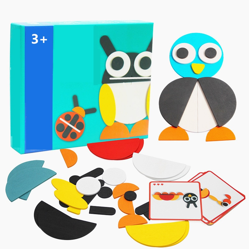 logwood baby wooden toys wooden block 26pcs learning educational toys for children animal words letter learn gifts for baby 50pcs Animal Wooden Board Set Colorful Baby Educational Wooden Toy for Children Learning Developing Toys