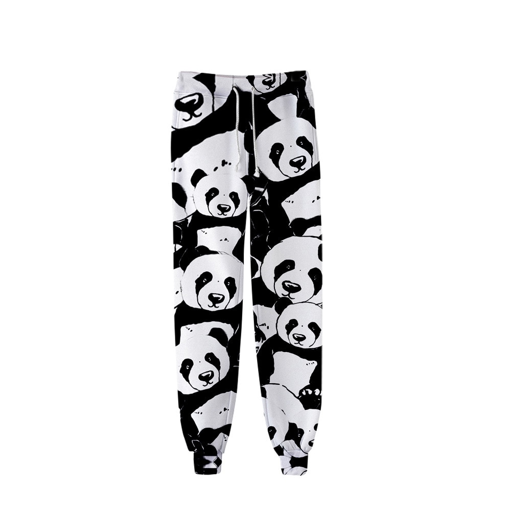 Animal panda 3D Print Joggers Pants Men Women Funny Cartoon Sweatpants Sports Fitness Loose Hip Hop Trousers Dropship