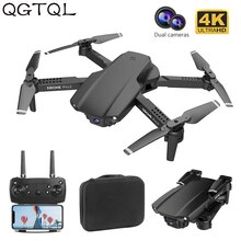 E99 Professional HD 4k Drone With Camera Hight Hold Mode Foldable Mini WIFI RC Plane Helicopter Pro