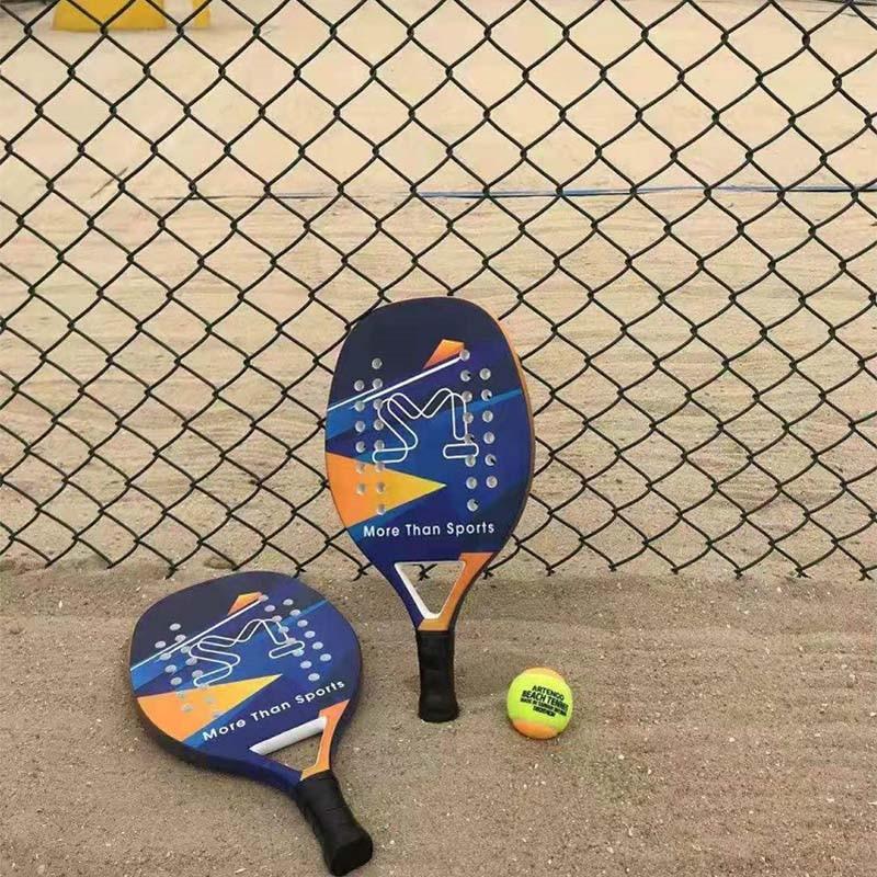 padel Adult Professional Full Carbon Beach Tennis Paddle Racket Soft EVA Face Tennis Raqueta With Bag Unisex Equipment