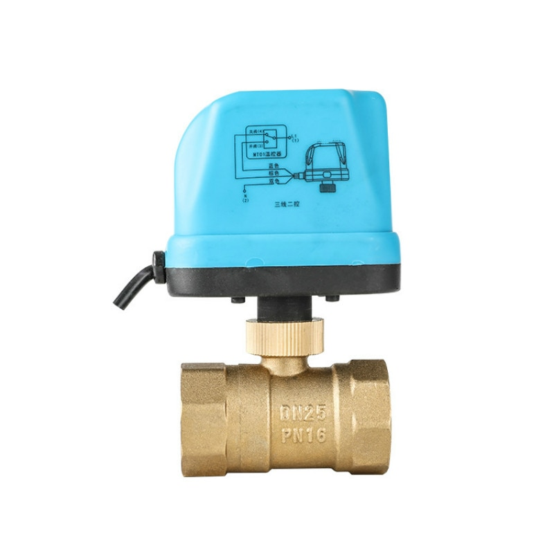 DN15- DN50 AC220V/24V DC5V/12V/24V 2 طريق براس الميكانيكيه الكرة صمام الكهربائية الكرة صمام المحرك الكهربائي Nomally و فتح/إغلاق