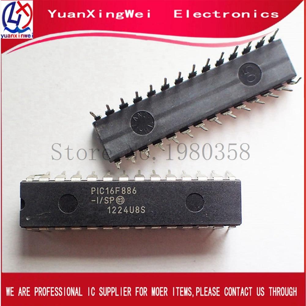 10pcs original spot IC PIC16F886 PIC16F886-I/SP 16F886 DIP28 Free Shipping