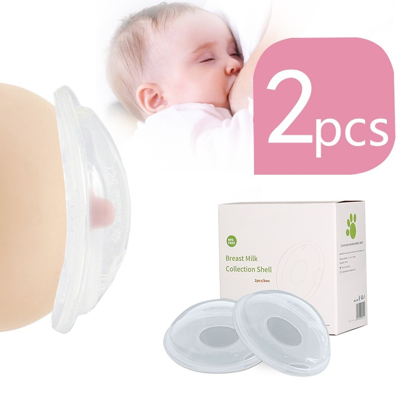 2pc Silica Gel Collection Cover Baby Breastfeeding Milk Collectors Soft Postpartum Nipple Suction Container Reusable Nursing Pad 1 pair silica gel collection cover baby feeding breast milk collector soft postpartum suction container reusable nursing pad