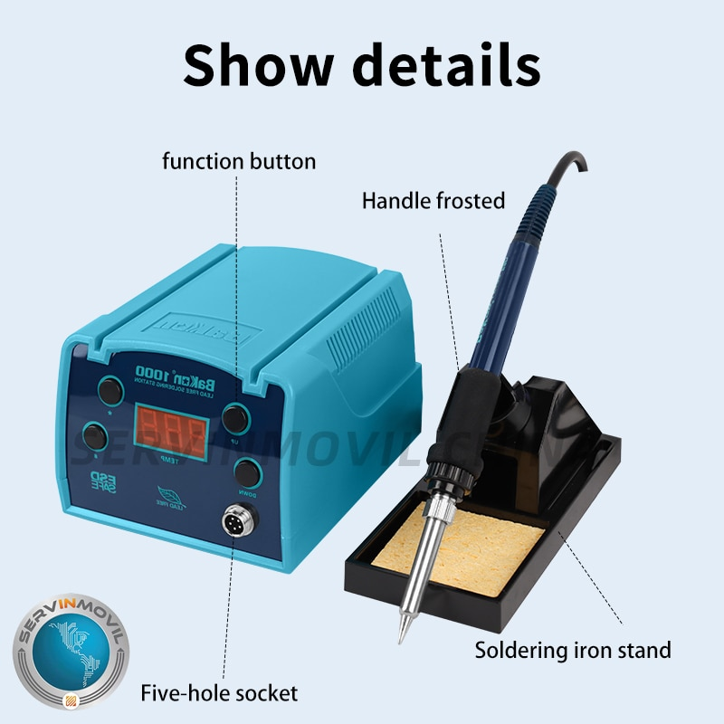 Bakon BK1000 عالية التردد إدي الحالي التدفئة إصلاح أدوات الحديد الساخن سبيكة لحام الهواء s محطة إعادة صياغة القصدير سبيكة لحام