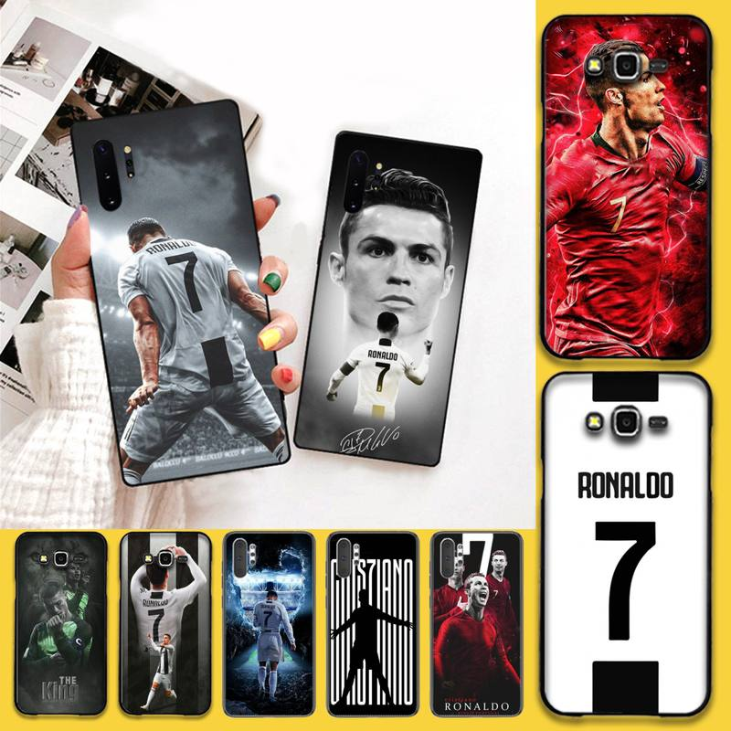 HPCHCJHM superestrella de fútbol Ronaldo CR7 cubierta del teléfono para Samsung Galaxy J7 J8 J6 Plus 2018 Nota 7 8 9 10 pro