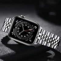bracelet for apple watch series 6 5 4 se band 44mm 40mm luxury stainless steel metal bands for iwatch 3 strap 42mm 38mm correa