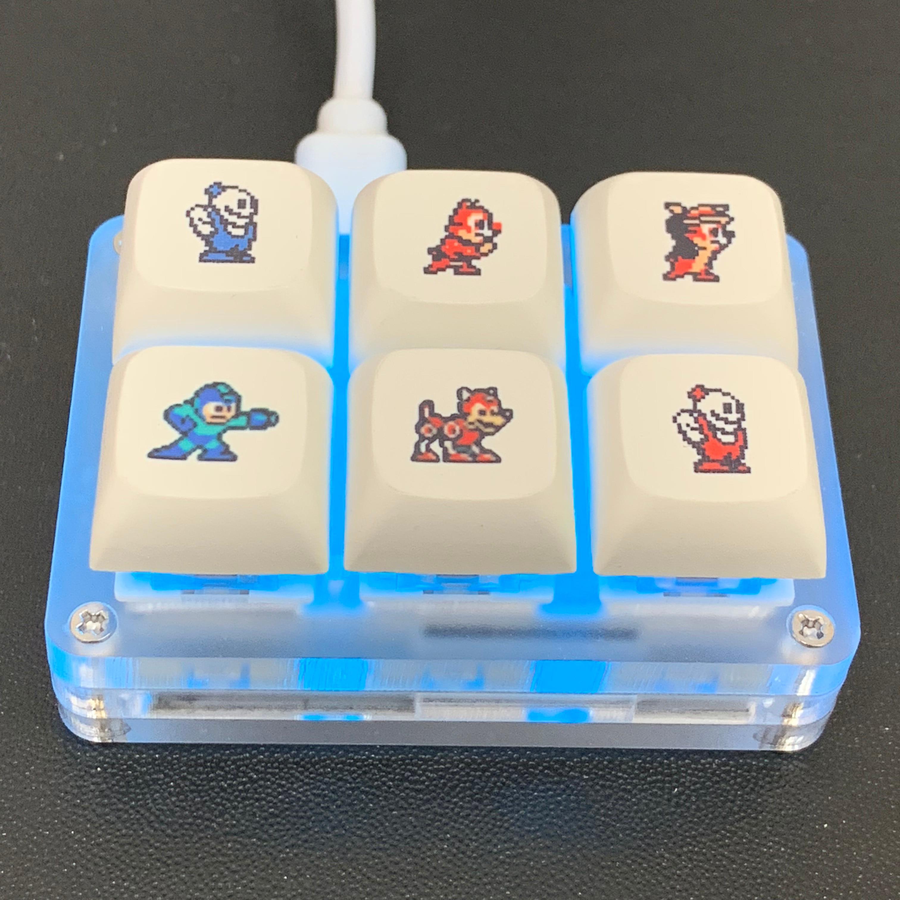 لوحة مفاتيح ميكانيكية صغيرة 6-مفتاح لوحة المفاتيح المخصصة اختصار لوحة المفاتيح ماكرو