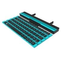 Folding Bluetooth Keyboard Wireless 64-Key Scroll Mini Keyboard Portable Scroll Design Keyboard
