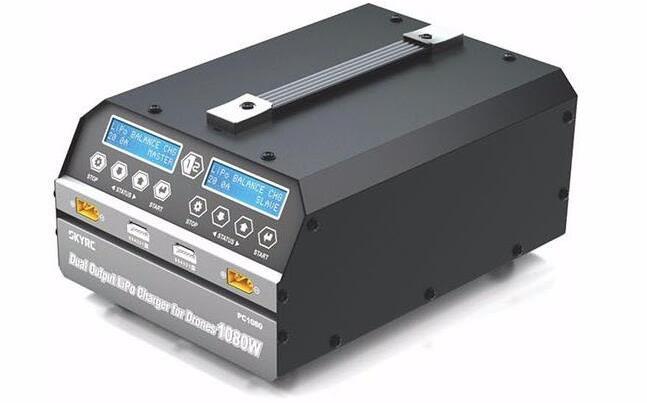 Двухканальное зарядное устройство SKYRC PC1080 1080W 20A, литиевая батарея, зарядное устройство для защиты растений, беспилотный летательный аппарат, ПК 1080, pc-1080