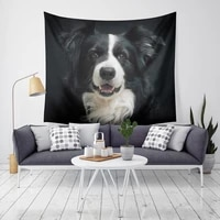 yaapeet 1pc polyester dog printed wall tapestry living room animal pattern hanging tapestry new fashion light blue wall decor